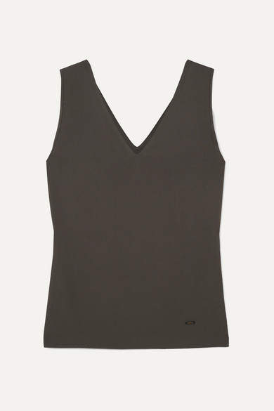 Akris Stretch-mulberry Silk-jersey Tank - Gray