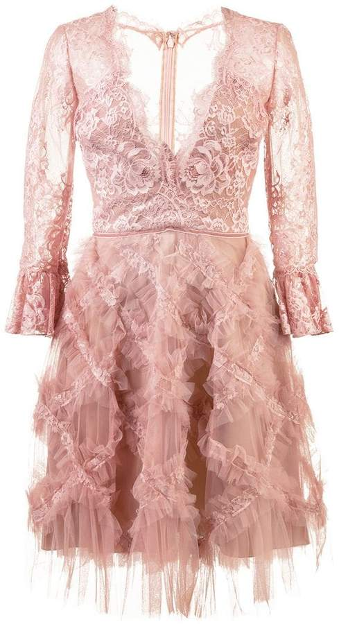 Marchesa tulle embellished dress