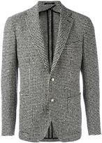Tagliatore houndstooth pattern blazer