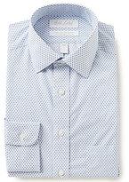 Roundtree & Yorke Gold Label Non-Iron Slim-Fit Spread-Collar Diamond Print Dress Shirt