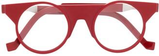 Va Va Structured Round-Frame Glasses