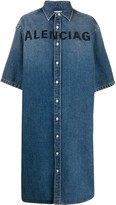 Balenciaga oversized denim shirt-dress
