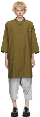 132 5. ISSEY MIYAKE Khaki Cotton Poplin Shirt