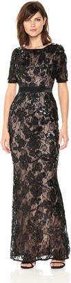 Adrianna Papell Women's Long Dress in Sequin Lace