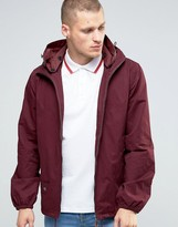 Pretty Green Jacket With Hood In Burgundy