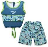 Aqua Leisure Boys' Small 2-Piece Swim Trainer in Blue
