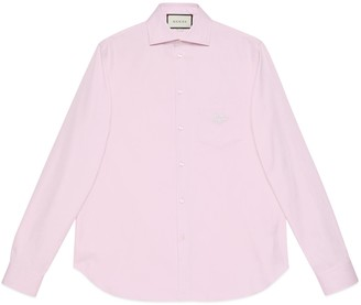 Gucci Cotton shirt with GG embroidery