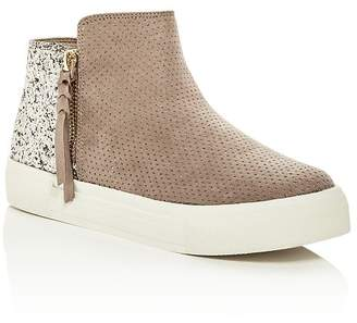 Dolce Vita Girls' Two-Tone Glitter Mid-Top Platform Sneakers - Toddler, Little Kid, Big Kid