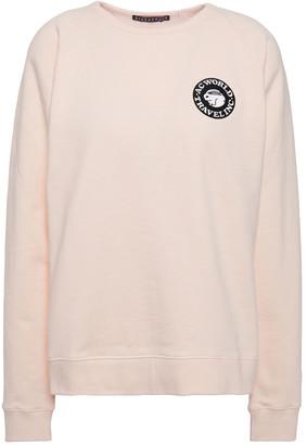 ALEXACHUNG Appliqued French Cotton-terry Sweatshirt