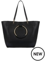 Accessorize Black Metal Ring Tote Bag