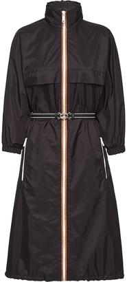 Prada detachable hood midi raincoat