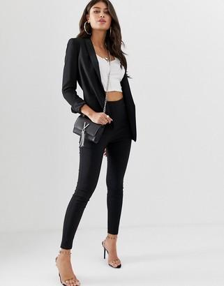 Asos Design DESIGN high waist trousers in skinny fit-Black