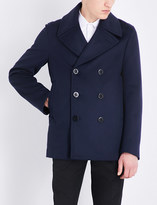 Alexander McQueen Double-breasted wool and cashmere-blend peacoat