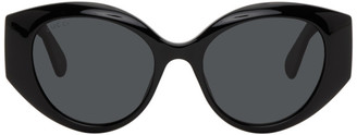 Gucci Black Oversized Cat Eye Sunglasses