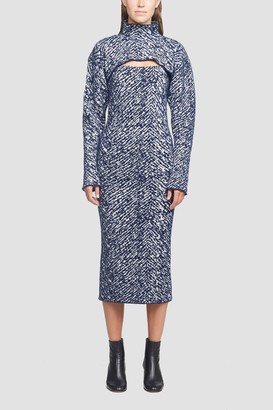 3.1 Phillip Lim Herringbone Jacquard Dress With Removable Shrug