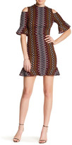 ABS by Allen Schwartz Cold Shoulder Geo Print Midi Dress