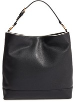 Tory Burch Duet Leather Hobo - Black
