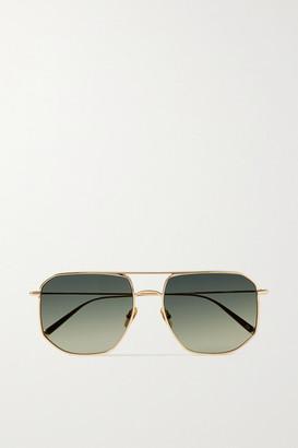 KALEOS Lamotta Aviator-style Gold-tone Sunglasses