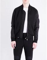 Moncler Contrast sleeve jersey bomber jacket