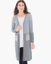 Chico's Radley Striped Long Cardigan