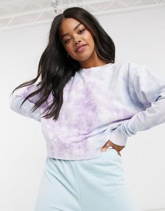 New Look sweatshirt in multi-coloured tie dye