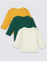 Marks and Spencer 3 Pack Long Sleeve T-Shirts