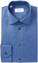 Eton Pattern Contemporary Fit Dress Shirt