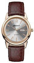 Ingersoll Men's The New Haven Automatic Watch with Silver Dial and Brown Leather Strap I00503