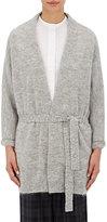 TOMORROWLAND Women's Fuzzy Belted Cardigan-GREY