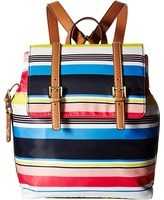Tommy Hilfiger Julia Stripe Flap Backpack Backpack Bags