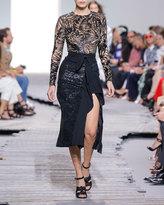 Michael Kors Sequin-Embellished Side-Ruffle Midi Skirt