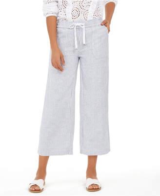 Style&Co. Style & Co Striped Linen Capri Pants