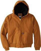 Dickies Big Boys' Sanded Duck Hooded Jacket