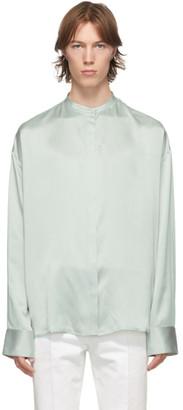 Haider Ackermann Grey Silk Oversized Dali Shirt