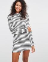 Brave Soul Turtleneck Stripe Dress