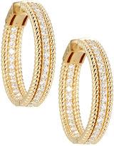 Neiman Marcus Diamonds 14k Twisted Diamond Hoop Earrings