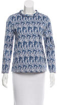 Wes Gordon Abstract Print Top
