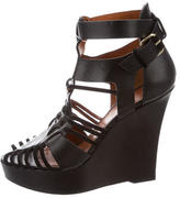 Givenchy Leather Caged Wedges