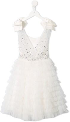 Tutu Du Monde Embellished Fit-And-Flare Dress