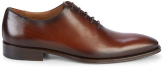 Mezlan Stacked Heel Leather Oxford Shoes