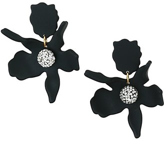 Lele Sadoughi Crystal Lily Small Drop Earrings