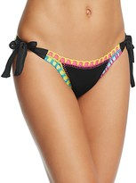 Platinum Side Tie Crochet Trim Bikini Bottom - 100% Exclusive