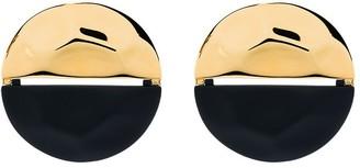 Monica Sordo Split Tone Circular Earrings