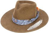 Nick Fouquet feather applique hat