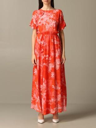Pinko Long Fantaman Dress With Floral Print