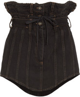 Y/Project Belted Denim Mini Skirt - Black