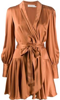 Zimmermann Eight satin wrap dress