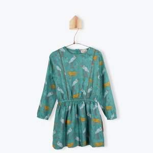 Arsène et les Pipelettes 4Y Jungle Dress - 4 anos - Green