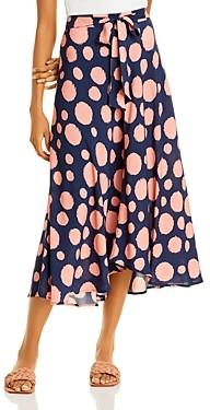 Velvet by Graham & Spencer Swan Printed High/Low Skirt