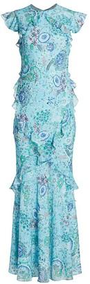 Saloni Tamara Silk Maxi Dress